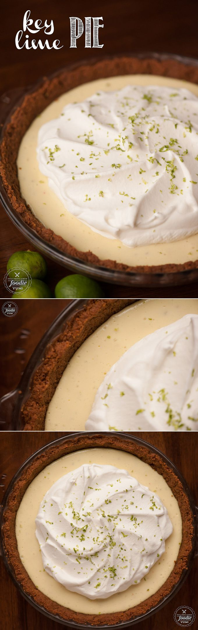 This authentic homemade Key Lime Pie made with a gingersnap crust will ...
