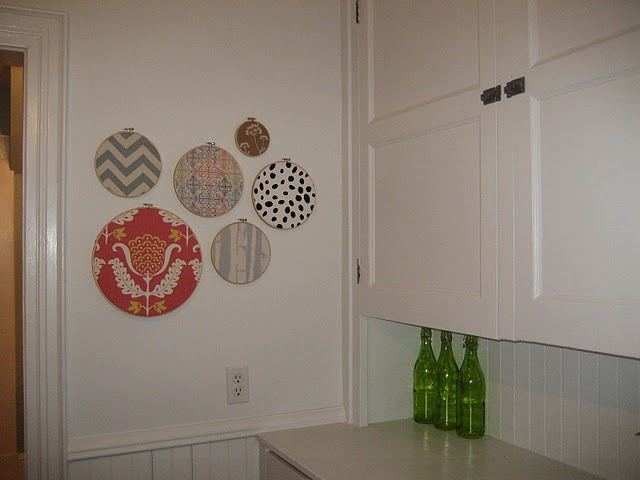 Fabric corkboard circles