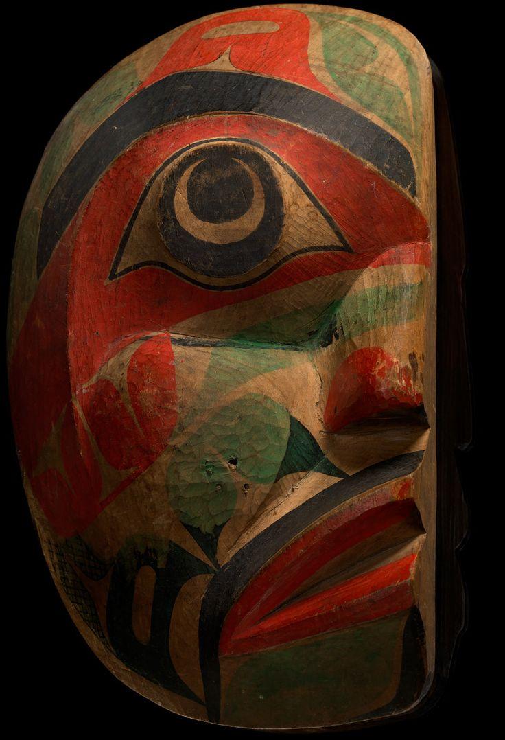Heiltsuk mask  ca. 1880  Vancouver Island, British Columbia, Canada  Wood, paint