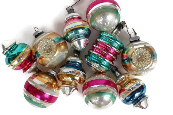 Vintage Shiny Brite Lantern Ornament
