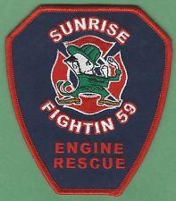 SUNRISE FLORIDA STATION 59 COMPANY FIRE RESCUE PATCH
