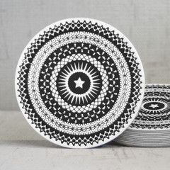 black star coasters by Hammerpress