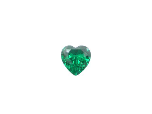 5mm Heart Green Cubic Zirconia *butterfly Memories* Charm