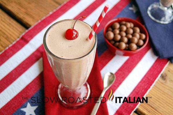Copycat Jack-In-The-Box: Chocolate Malt Crunch Milk Shake