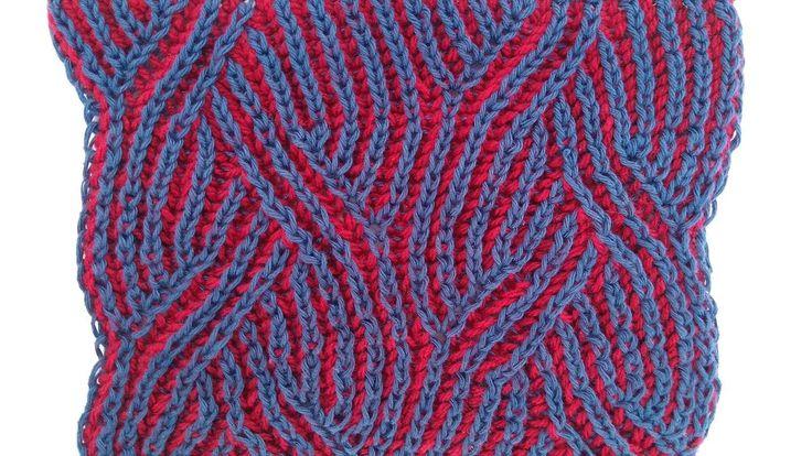 """Braids"" two-color brioche stitch pattern + free embedded chart"