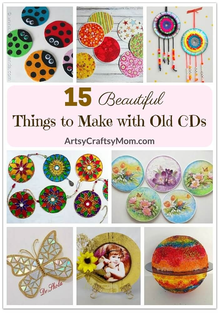 This Earth Day, get your family into recycling mode and turn trash into treasure by checking out these 15 beautiful things to make with old CDs.