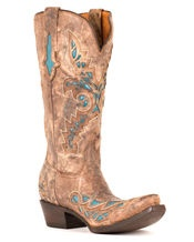 Carhage Lazer Design Boot-Desert with Turquoise Inlays-Lucchese