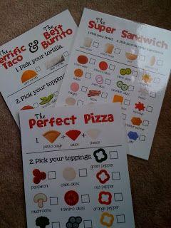 Preschool Printables: Free Menu's