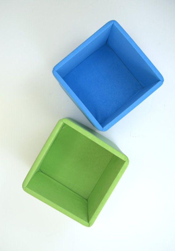 Sturdy Storage Shelf Baskets  Modern Colorful Blue & Green