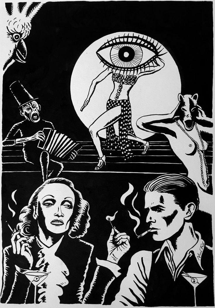 Neal Fox, Falling In Love Again, 2015 Ink on paper/Tusche auf Papier, 59,5 x 42 cm