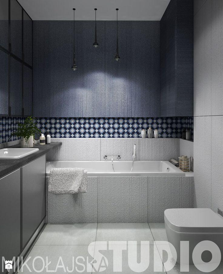 łazienka-niebieska mozaika - zdjęcie od MIKOŁAJSKAstudio - Łazienka - Styl Nowoczesny - MIKOŁAJSKAstudio