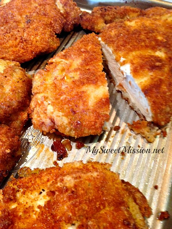 Marinated Crispy Panko Chicken Breasts Recipe Chicken