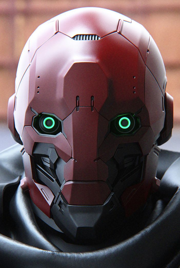Concept 2 Model D >> CyberClays | Masks | Character design, Cyberpunk, Robot art