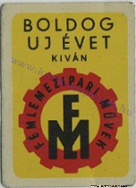 1960 - 1960_0086 - Régi magyar kártyanaptárak
