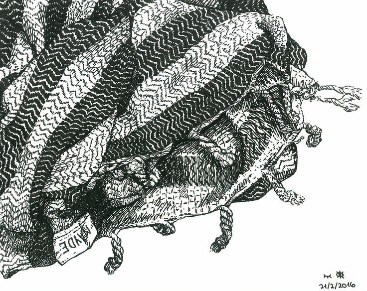 Beach towel. Illustration by Tereza Basarova