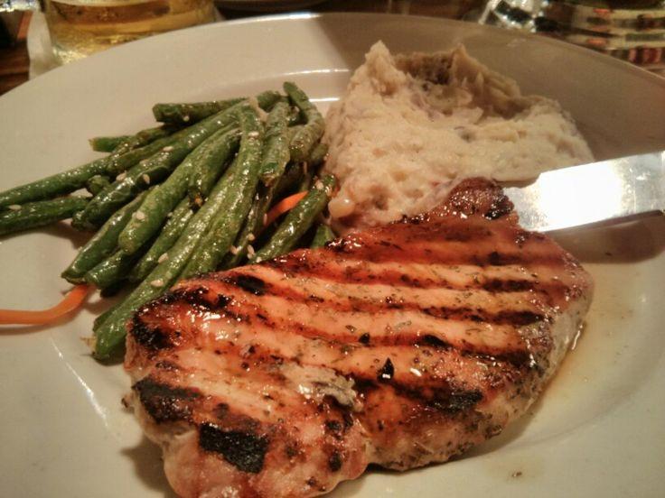 Texas Pork Chop @ Axel's Bonfire