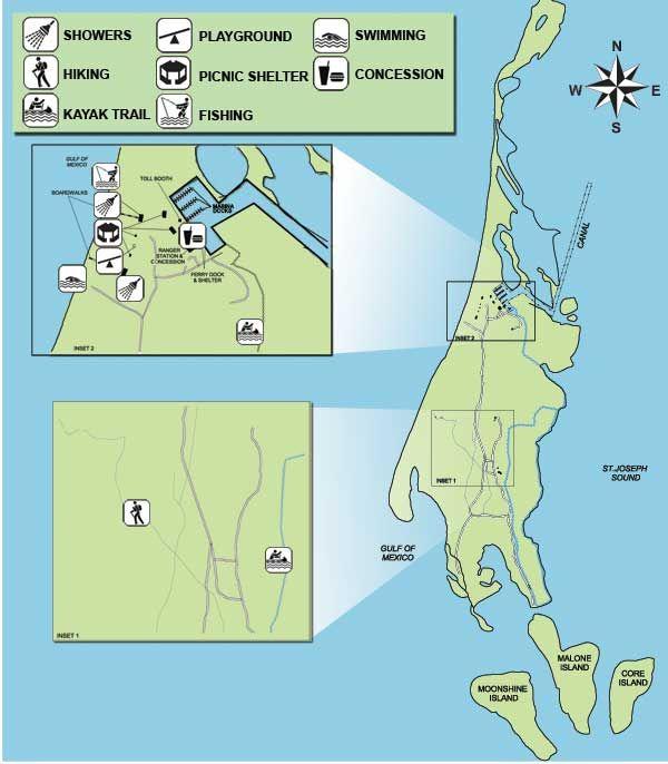 Caladesi Island Florida: Map Of Caladesi Island State Park