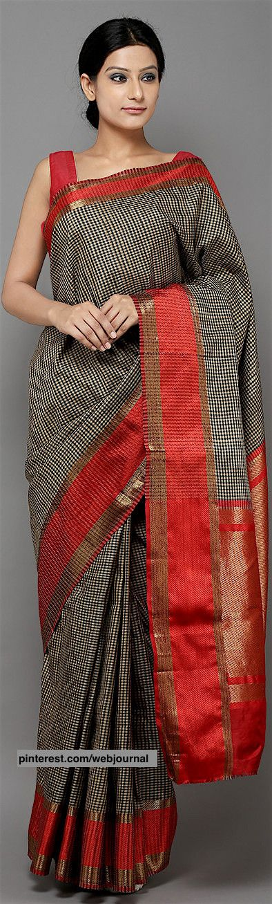Handwoven Banarasi Tussar saree from theloom.in