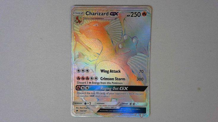Charizard GX 150 - Hyper Secret Rainbow Rare - MP Factory Damage Pokemon Card
