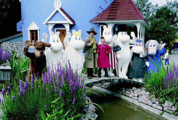 Страна Муми-троллей в Финляндии. Парк развлечений с живыми героями любимых сказок.