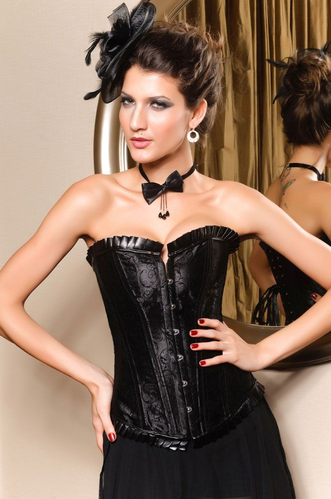 Black Satin Waist Training Corset
