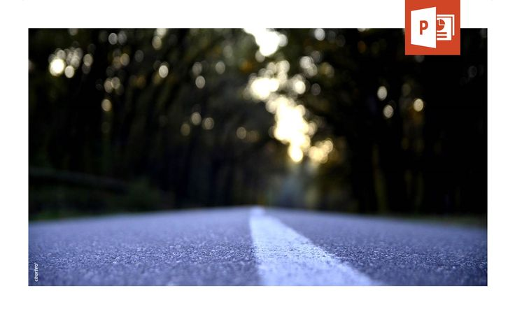 Use our PowerPoint background template portraying a road which can be used as a metaphor for a company's way to success.