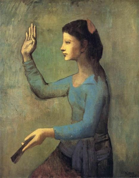 """Pablo Picasso, """"Woman With A Fan"""", 1905"""