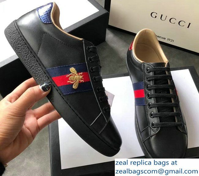 Gucci Ace Leather Low-Top Lovers