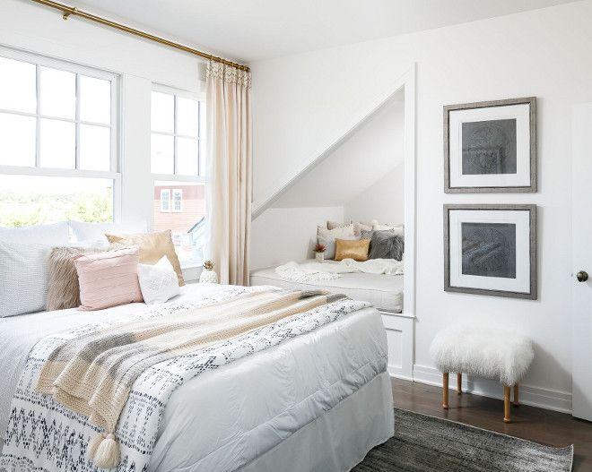 light and airy with a great spot for reading or a child to sleep