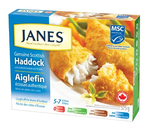 Janes - Thank Goodness!    Janes Genuine Scottish Battered Haddock – only the highest quality fillets are chosen for Janes and then wrapped in a toasted wheat crumb batter. Pair with vegetables or salad for a quick and delicious meal. #product #fish
