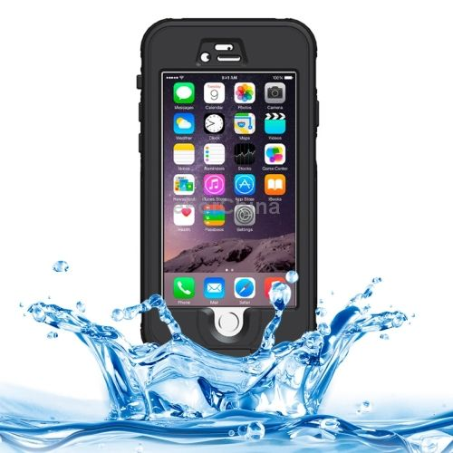 ABS Material Waterproof Protective Case with Button & Fingerprint Unlock & Touch Screen Function for iPhone 6 Plus