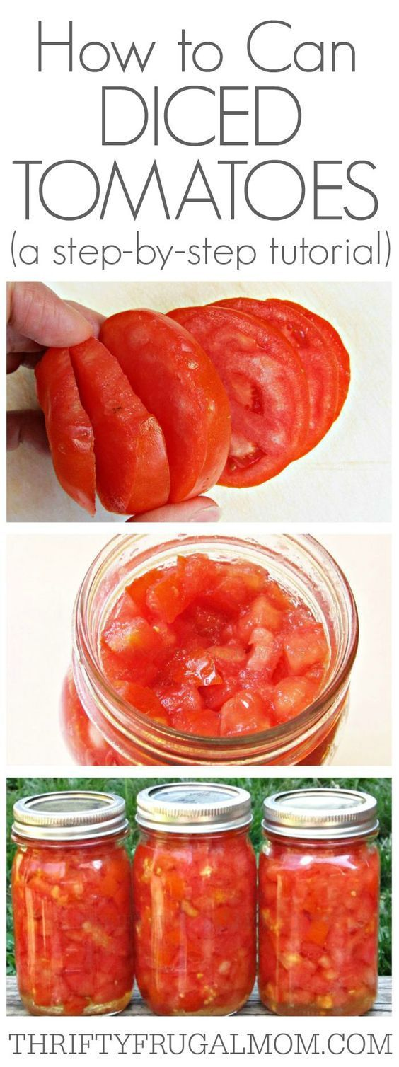 ... canning your own diced tomatoes in no time! Who knew it could be so