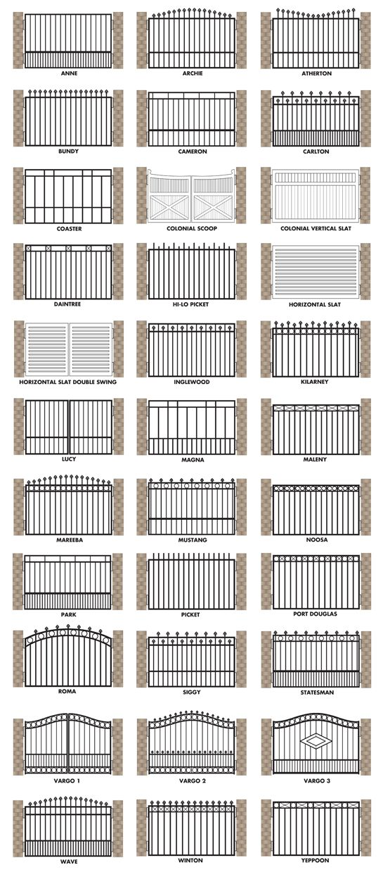 Brisbane Gates Offers The Following Gate Designs