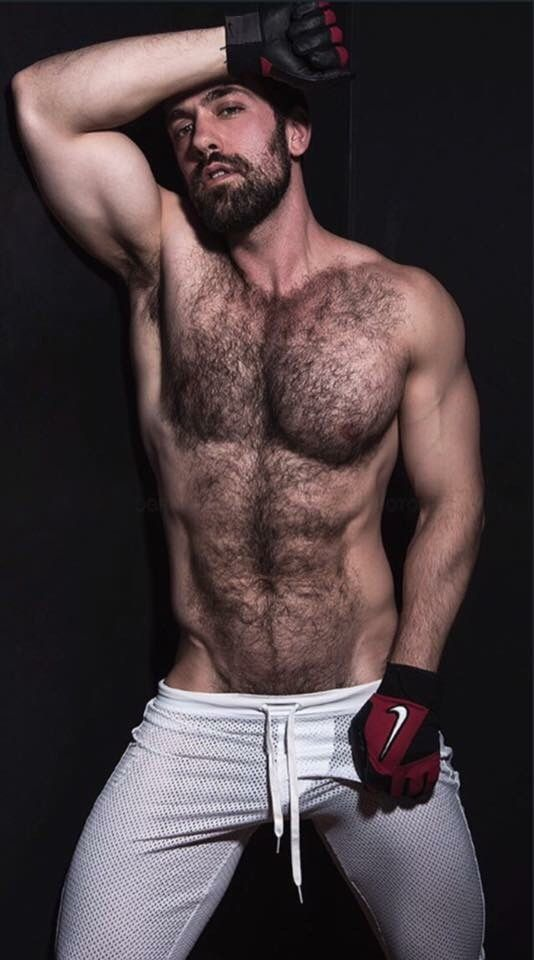 hair and facial Manly chest