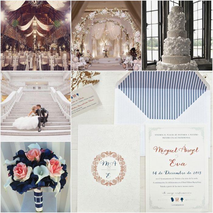 """Las invitaciones de boda """"Palace"""" son elegantes, tradicionales y parecen sacadas de un cuento de hadas.  #weddinginvitations #invitacionesdeboda #boda #invitacion #invitaciones #palace #elegante #cuentodehadas #fairytale"""