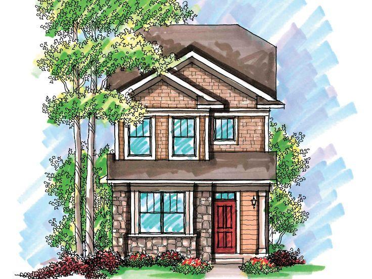 Narrow Lot Home Plan 020h 0199 Cottage House Plans