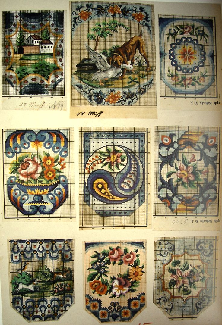 Berlin WoolWork Patterns For Antique BeadWork Purses No.7 ~ Vintage Beaded Purses