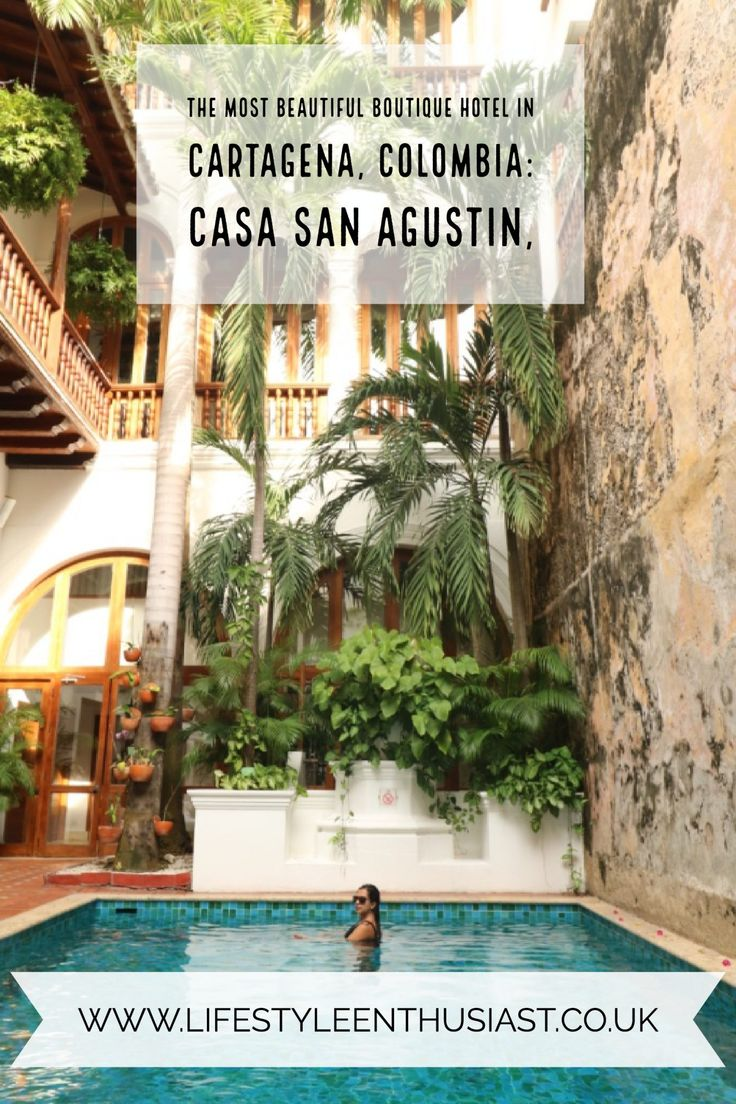 Luxury boutique hotel review of Casa San Agustin, Cartagena de las indias, Colombia, the ultimate in luxury South American travel. Bijou luxury boutique with incredible suites, private pools and so much history. Read more in the full review of this hotel on travel blog, Lifestyle Enthusiast