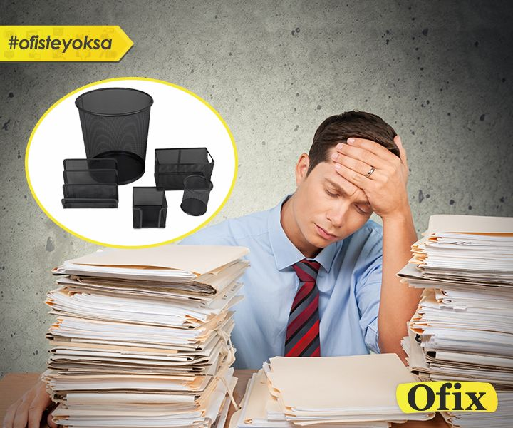 """Ofix.com 'dan haftanın fırsatı: """"Verimli bir çalışma ortamı için düzenli bir çalışma masası; düzenli bir çalışma masası için Kraftex Metal Perfore 5'li Set! http://www.ofix.com/Kraftex-Metal-Perfore-Cop-Kovali-Li-Set-Siyah"""