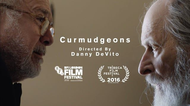 A pair of senior citizens have a relationship that shocks both their families in this potty-mouthed, but endearing, comedy.  Starring and directed by Danny DeVito.  'Curmudgeons' has been selected as Vimeo's first official Staff Pick Premiere, read more about it here: https://vimeo.com/blog/post/danny-devito-is-a-curmudgeon-in-curmudgeons  Website: www.curmudgeonsfilm.com  ///  Twitter: @curmudgeonsfilm  Ralph...David Margulies  Jackie...Danny DeVito  Robin...Lucy DeVito  Daniela....