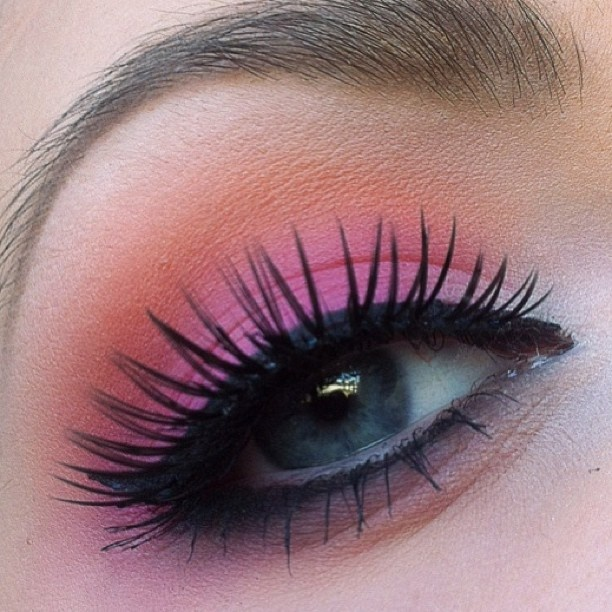 Image result for coral eye shadow