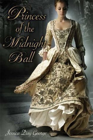 """""""Princess of the Midnight Ball"""" by Jessica Day George, a retelling of The Twelve Dancing Princesses. Cover art by Larry Rostant."""
