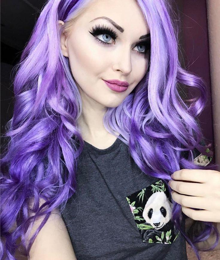 Arctic fox hair color girls night a dash of purple