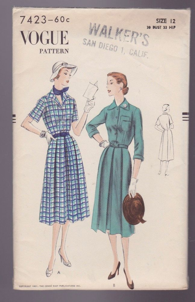 23 best Vintage Vogue Patterns images on Pinterest | Entwurfsmuster ...