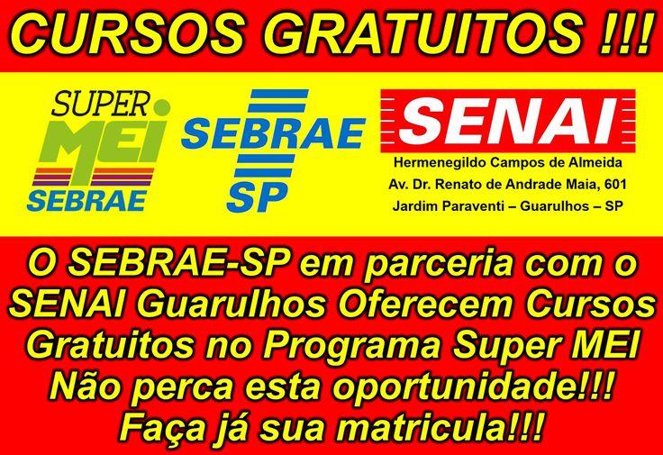 O SEBRAE-SP e SENAI Guarulhos Oferecem Cursos Gratuitos no Programa SUPER MEI