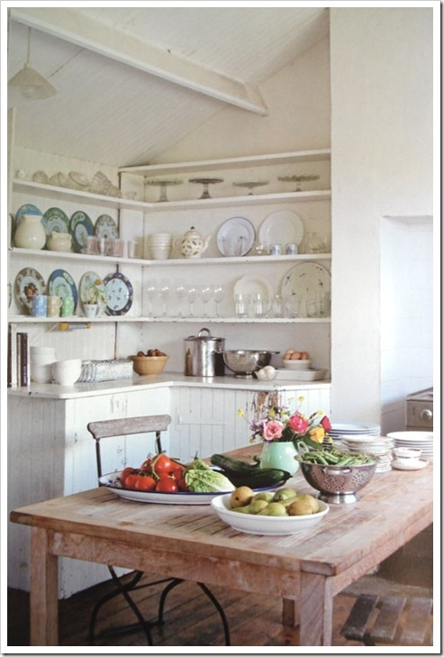 love the corner cabinet and shelves