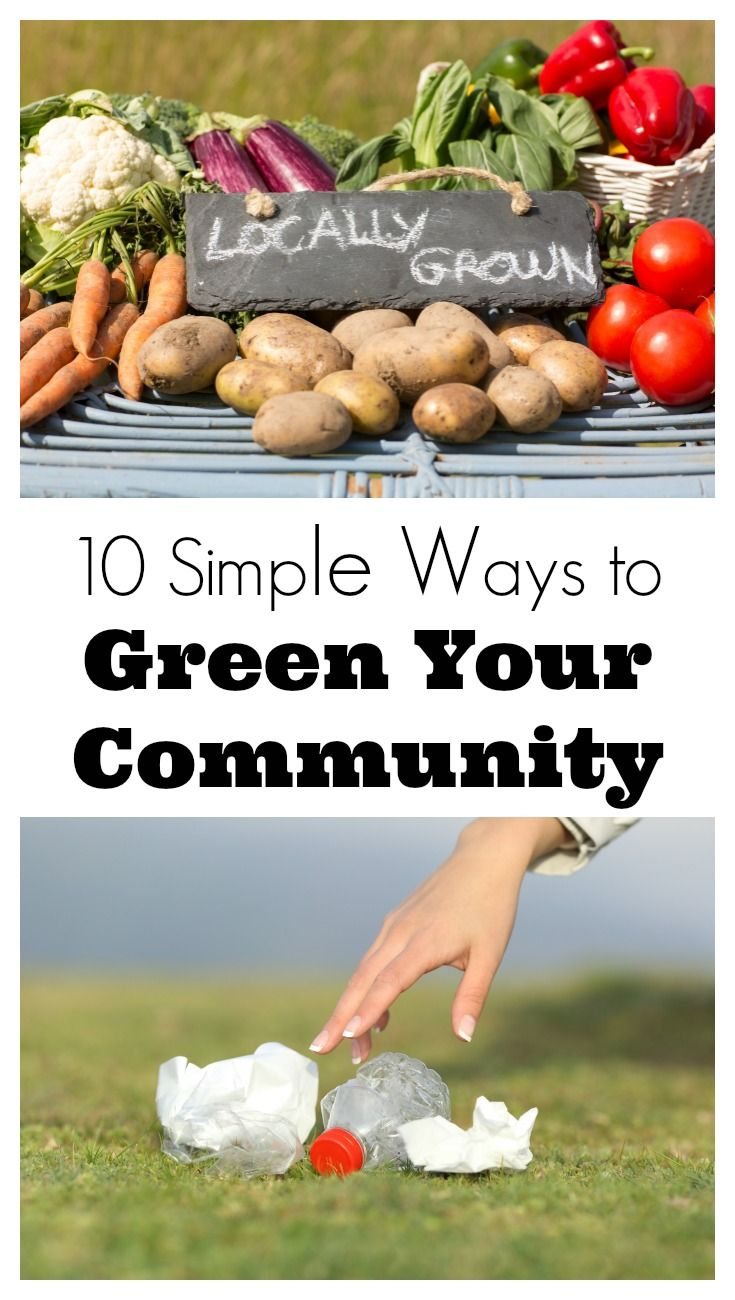 I love these fun and simple ways to green your community. They'll be great to do with the kids too.   Green Living