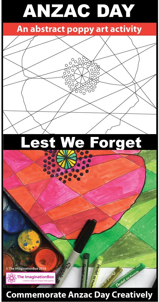 This beautiful Anzac Day abstract poppy art activities resource for kids is ideal for using at school as a memorial day teaching lesson and to learn about history in New Zealand and Australia. Create Anzac Day art display posters for the classroom, make decorations, bookmarks and experiment with color with these easy to use printable worksheets and coloring pages. Click on the 'visit' button to view this Anzac Day packet in full.