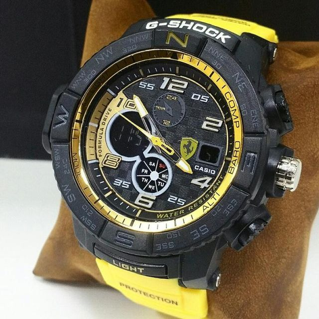 Yellow And Black dial Sports Mens Watch