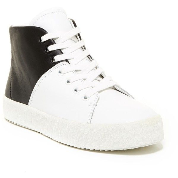 Kendall & Kylie Dylan High Top Sneaker (€52) ❤ liked on Polyvore featuring shoes, sneakers, whmle, high top shoes, platform shoes, round cap, lace up shoes and cushioned shoes